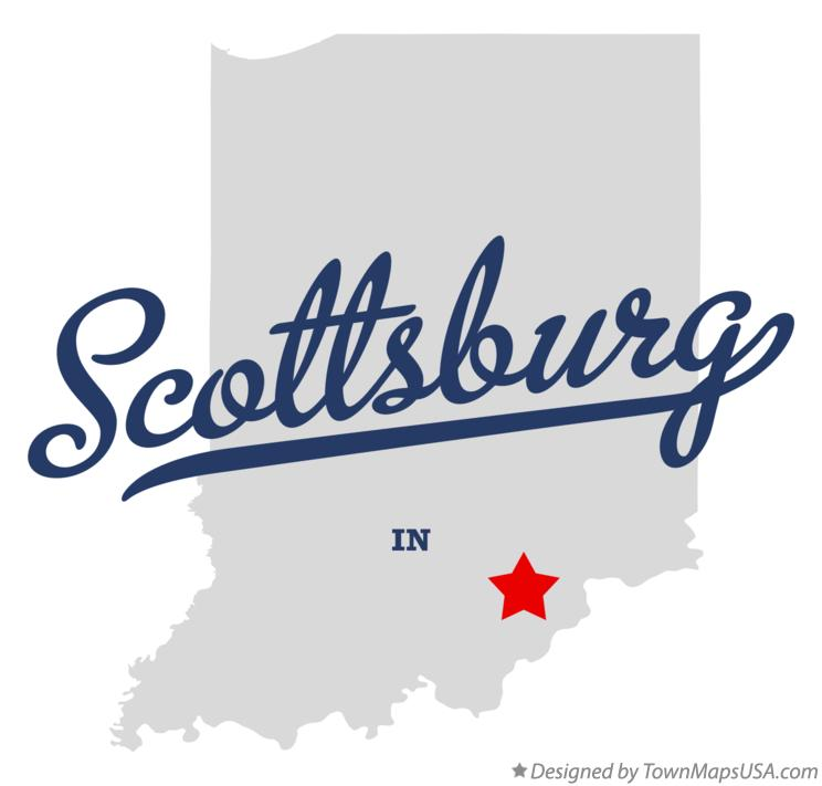 Map of Scottsburg Indiana IN