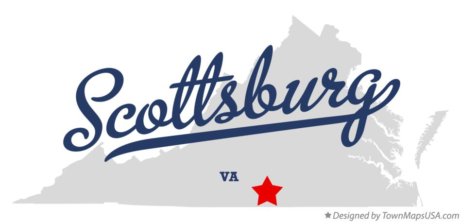 Map of Scottsburg Virginia VA