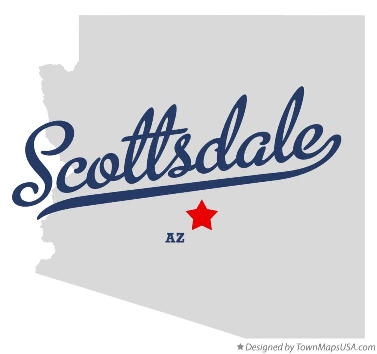 Map of Scottsdale, AZ, Arizona