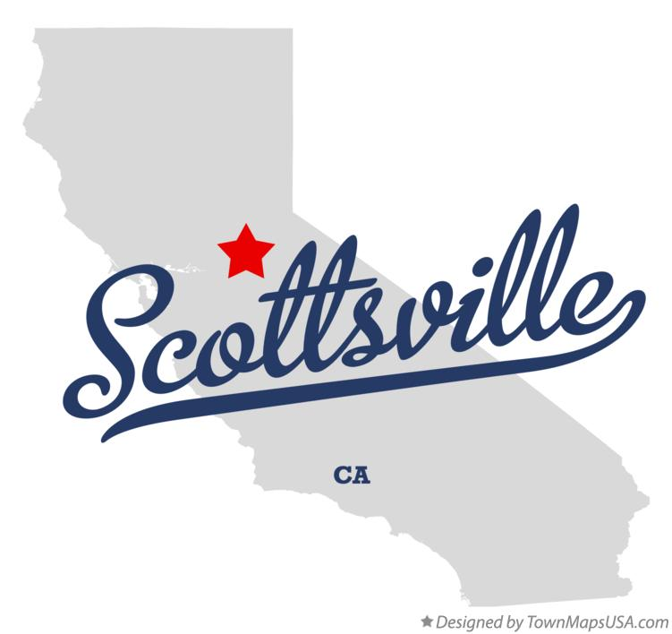 Map of Scottsville California CA