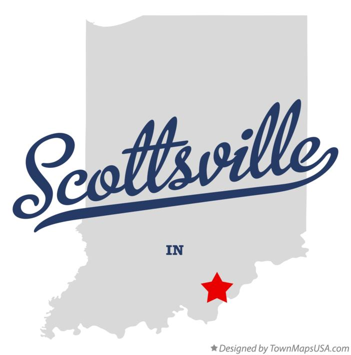 Map of Scottsville Indiana IN