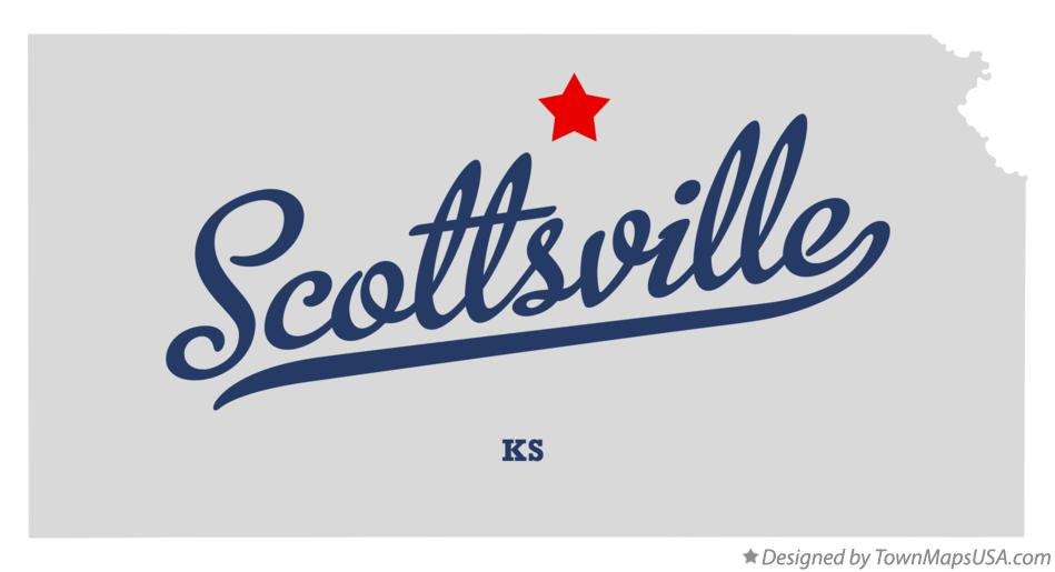 Map of Scottsville Kansas KS