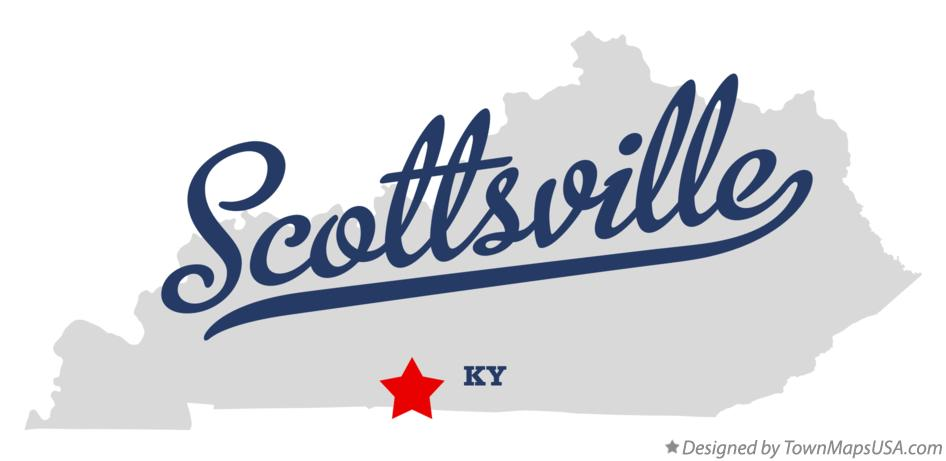 Map of Scottsville Kentucky KY