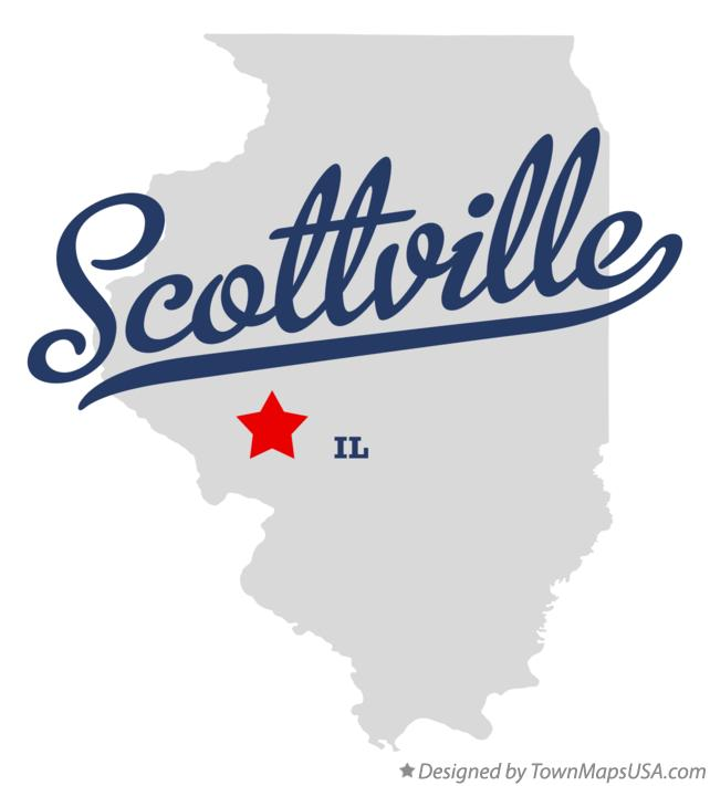 Map of Scottville Illinois IL
