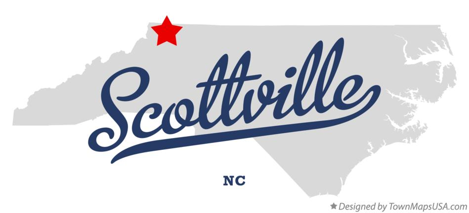 Map of Scottville North Carolina NC