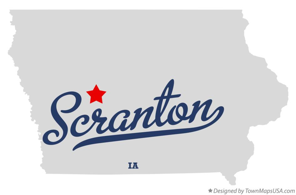 Map of Scranton Iowa IA