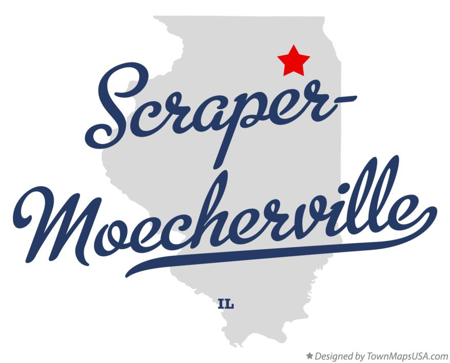 Map of Scraper-Moecherville Illinois IL