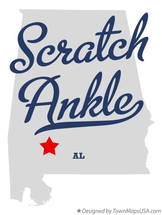Map of Scratch Ankle Alabama AL