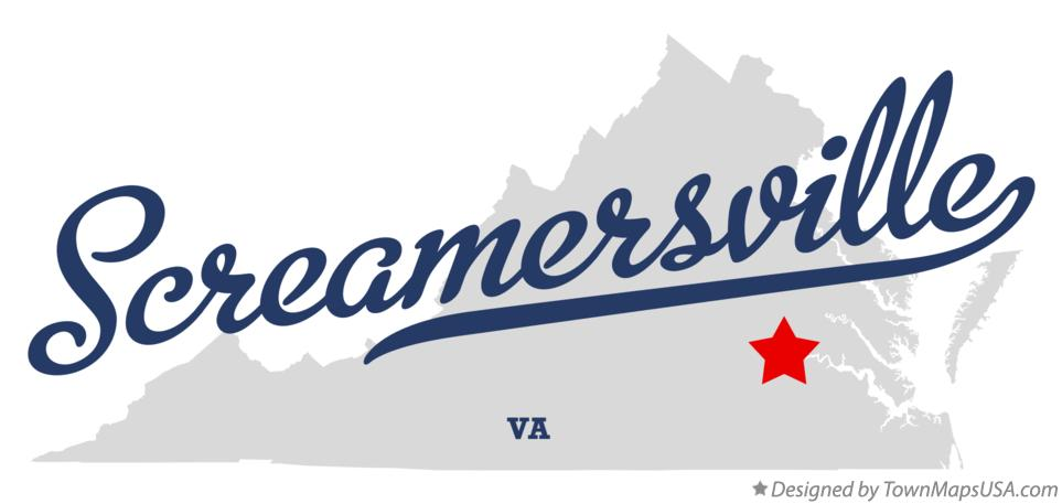 Map of Screamersville Virginia VA