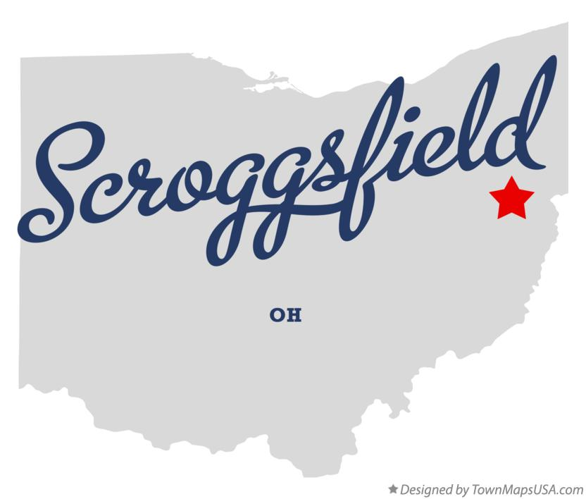 Map of Scroggsfield Ohio OH