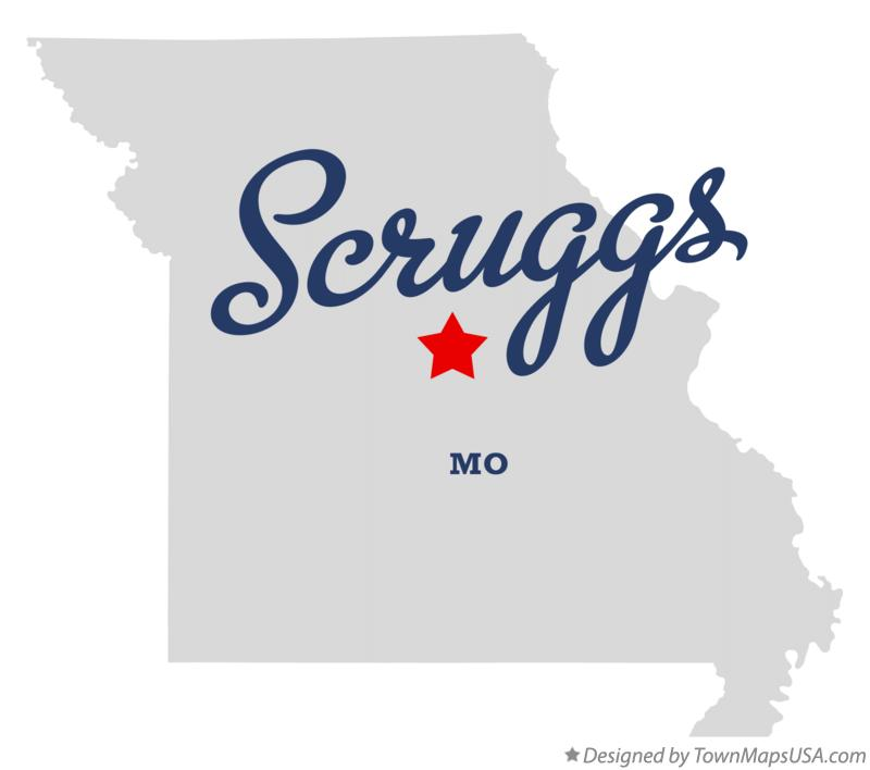 Map of Scruggs Missouri MO