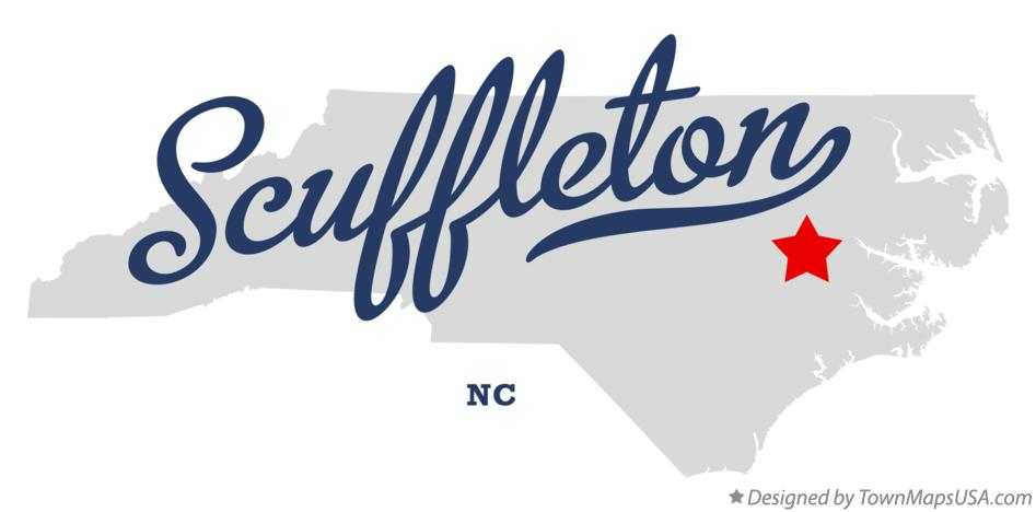 Map of Scuffleton North Carolina NC