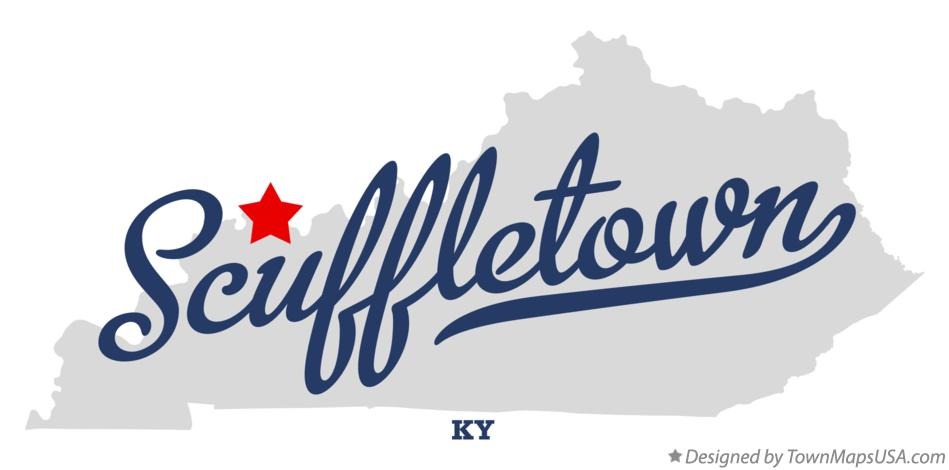 Map of Scuffletown Kentucky KY