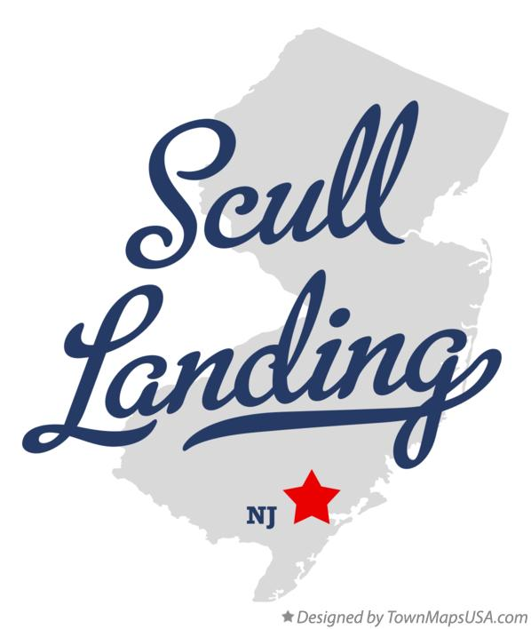Map of Scull Landing New Jersey NJ