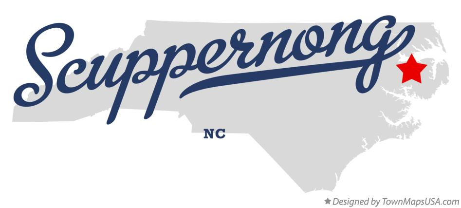 Map of Scuppernong North Carolina NC