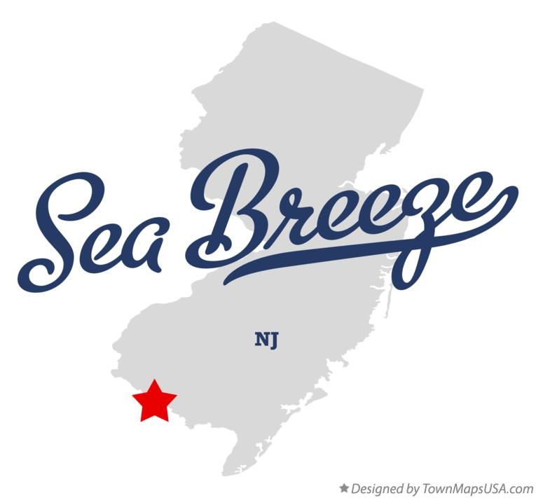 Map of Sea Breeze New Jersey NJ