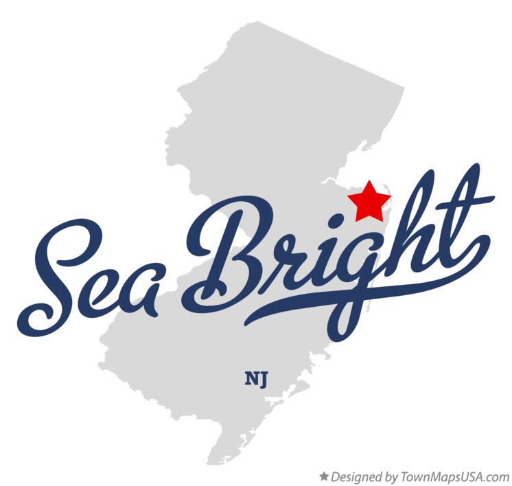 Map of Sea Bright New Jersey NJ