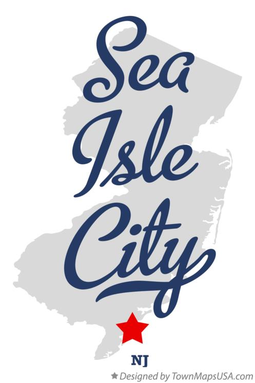 Map of Sea Isle City New Jersey NJ