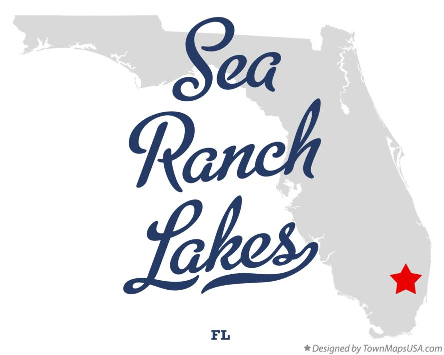 Map of Sea Ranch Lakes Florida FL