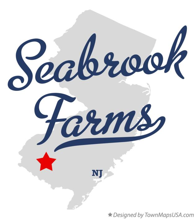 Map of Seabrook Farms New Jersey NJ