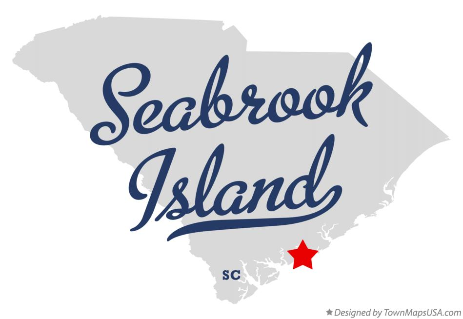 Map of Seabrook Island South Carolina SC