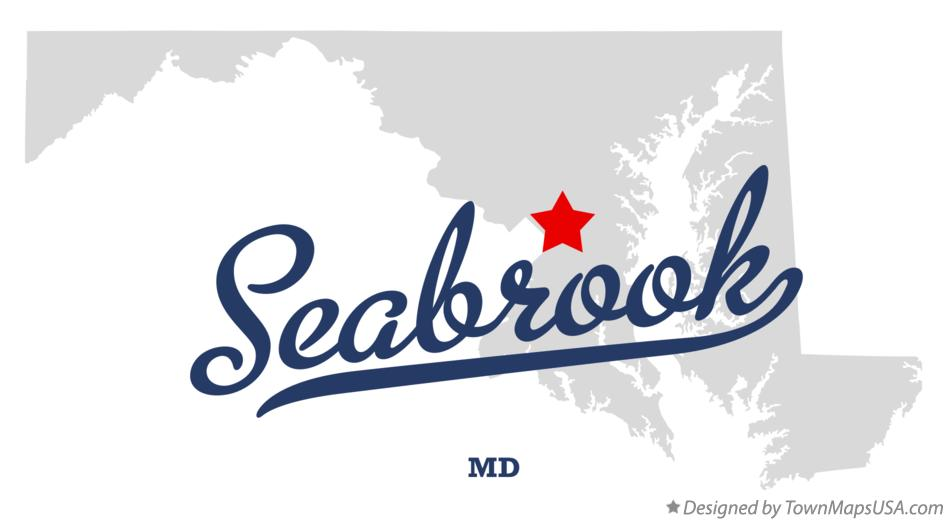 Map of Seabrook Maryland MD