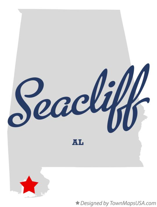 Map of Seacliff Alabama AL
