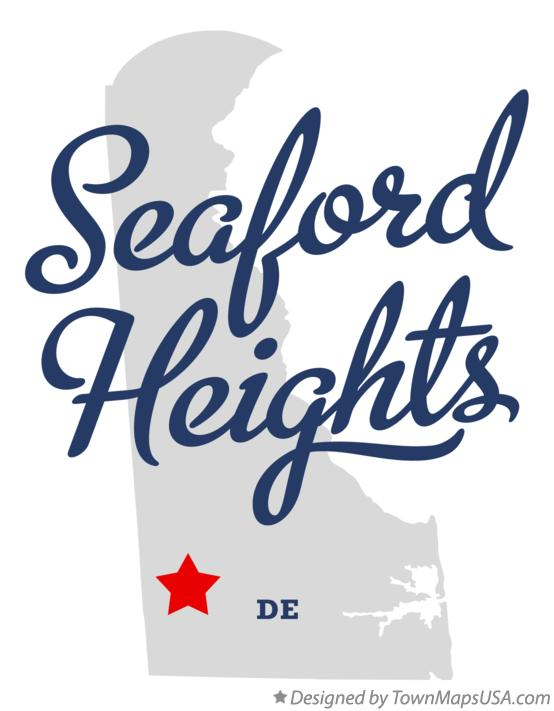 Map of Seaford Heights Delaware DE
