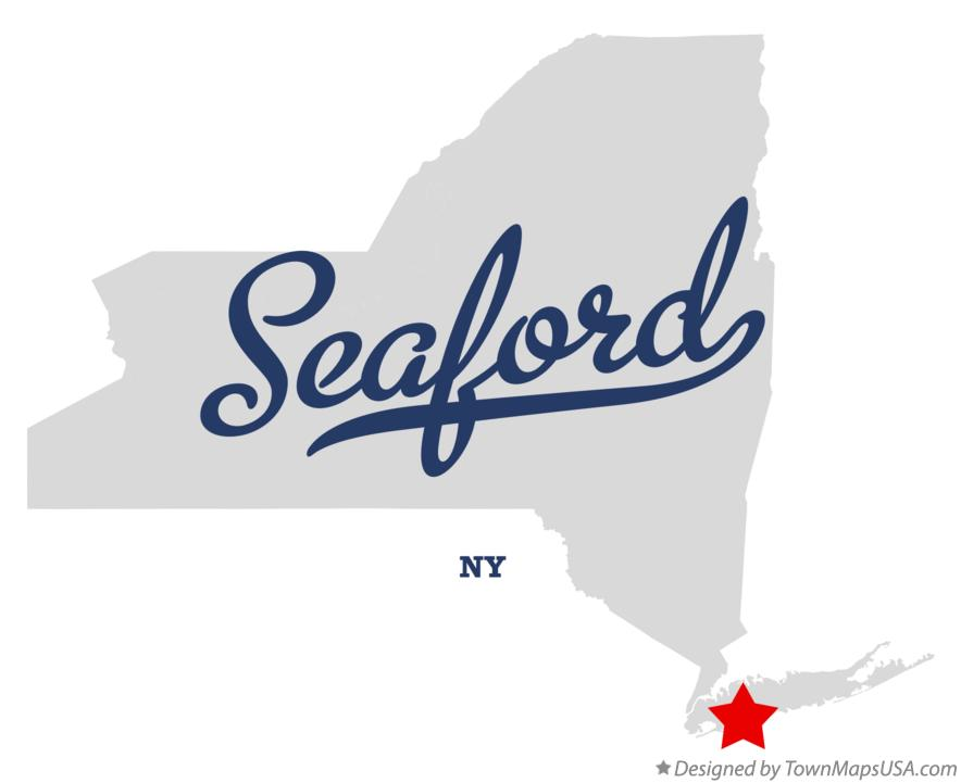 Map of Seaford New York NY