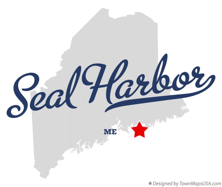 Map of Seal Harbor Maine ME