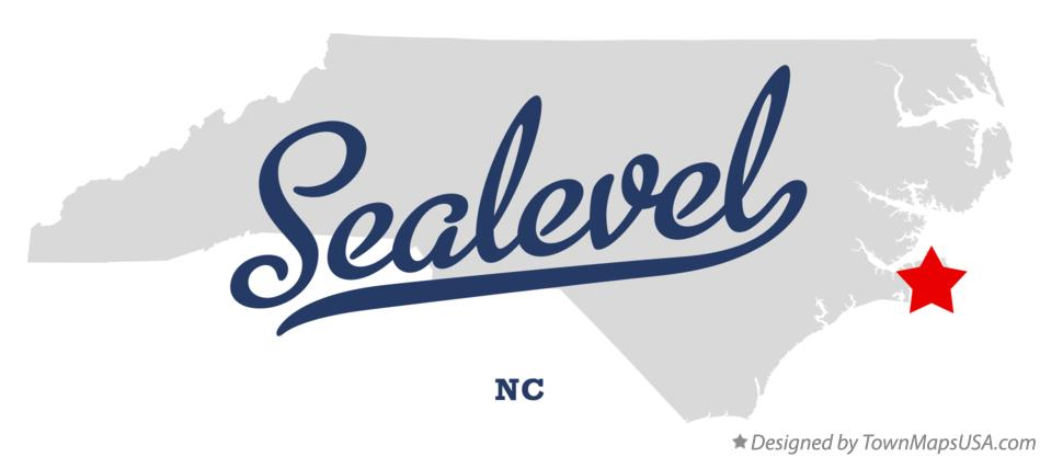 Map of Sealevel North Carolina NC