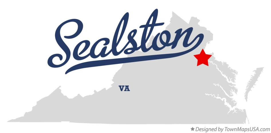 Map of Sealston Virginia VA