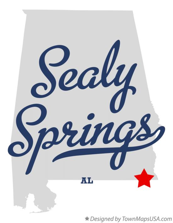 Map of Sealy Springs Alabama AL