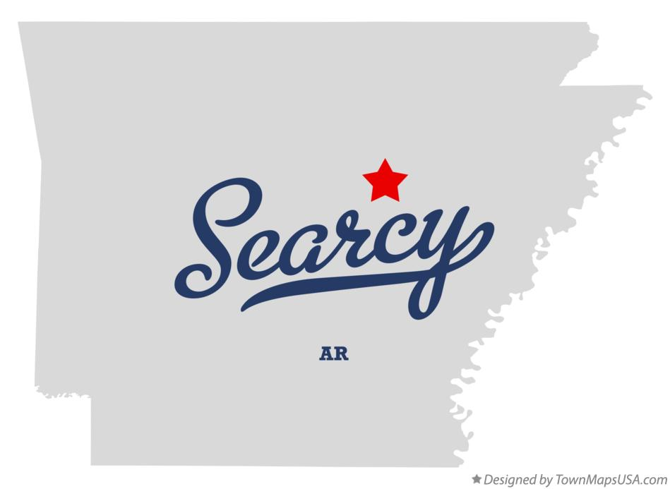 Map of Searcy, White County, AR, Arkansas