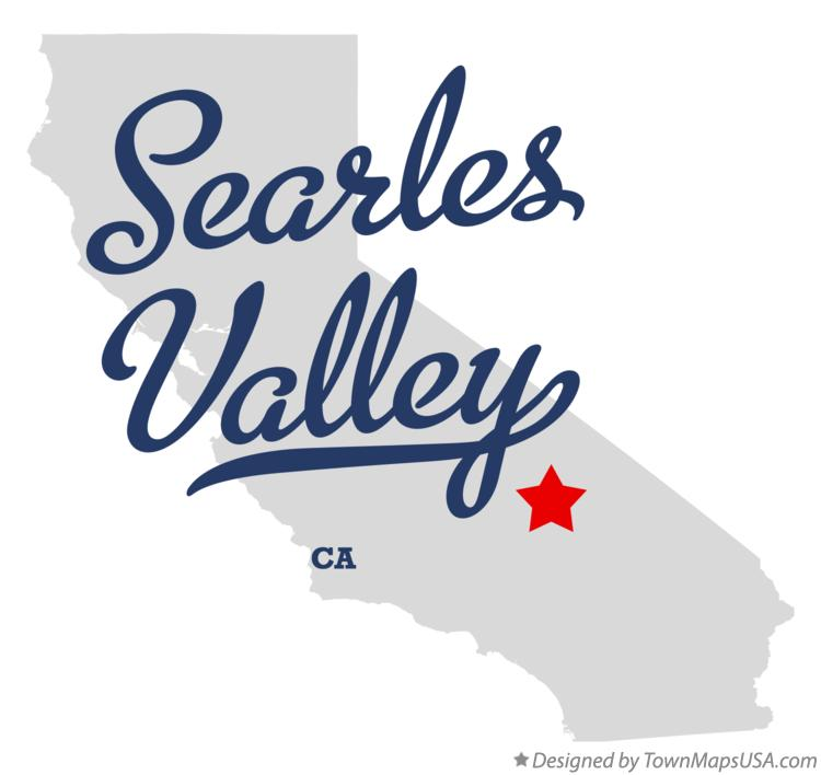 Map of Searles Valley California CA