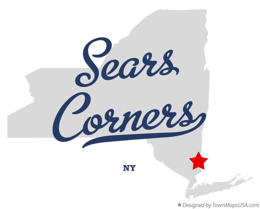 Map of Sears Corners New York NY