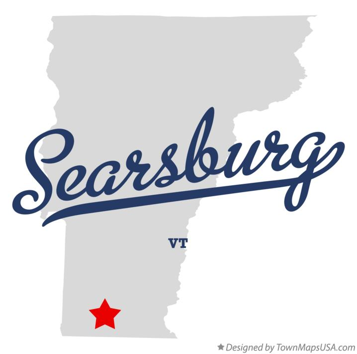 Map of Searsburg Vermont VT