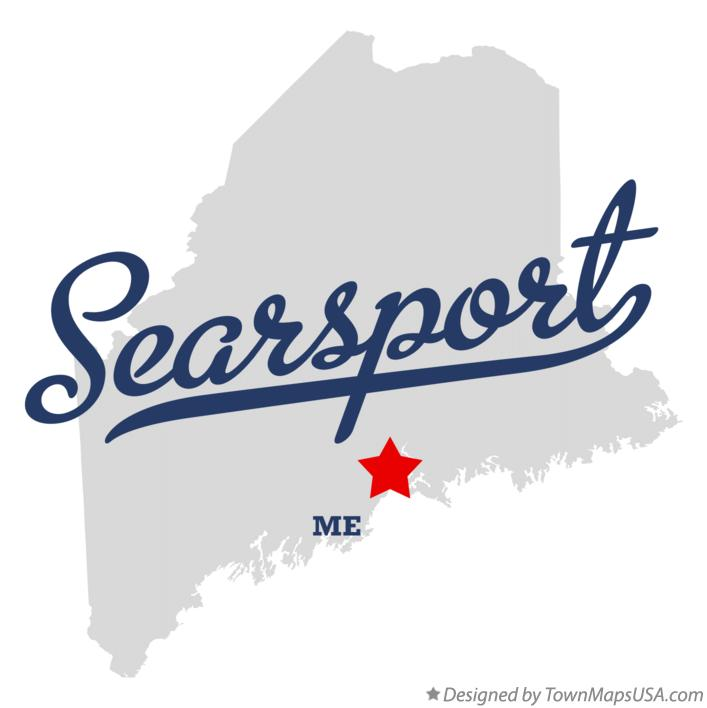 Map of Searsport Maine ME