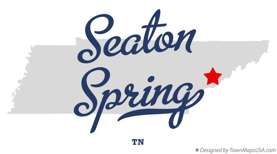 Map of Seaton Spring Tennessee TN