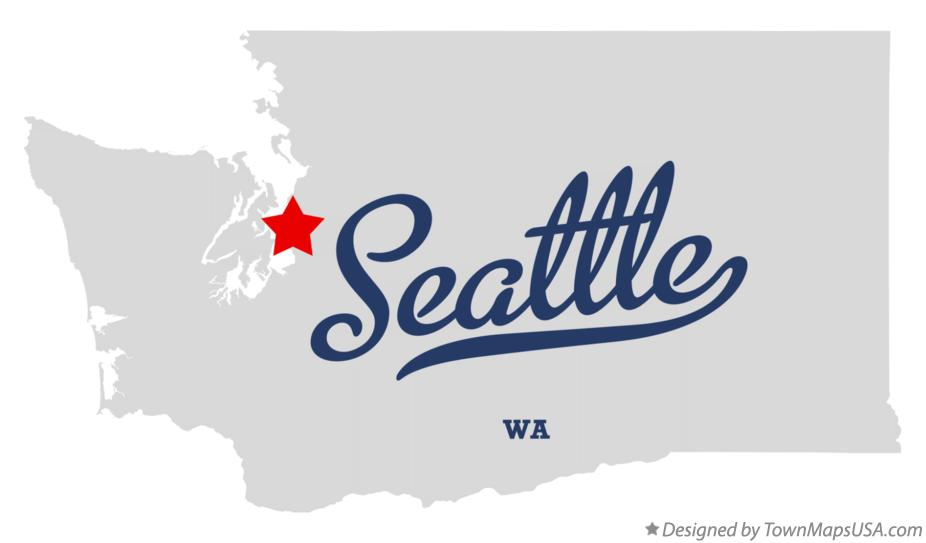 Map Of Seattle Wa Washington