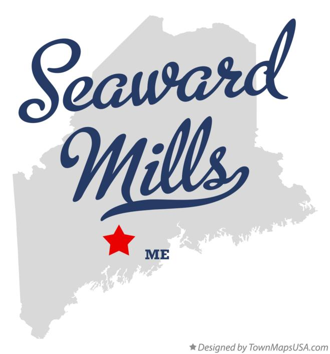 Map of Seaward Mills Maine ME