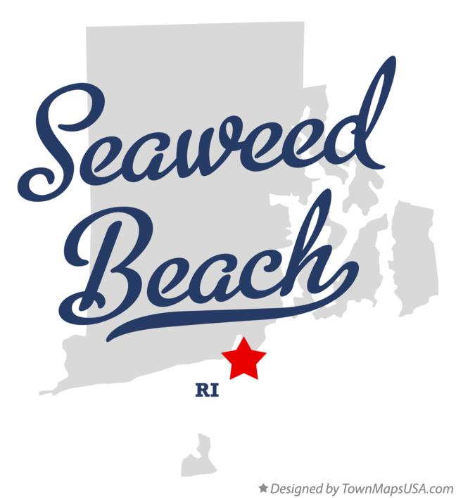 Map of Seaweed Beach Rhode Island RI