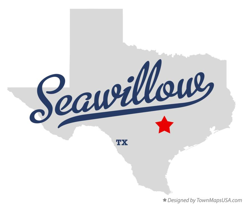 Map of Seawillow Texas TX