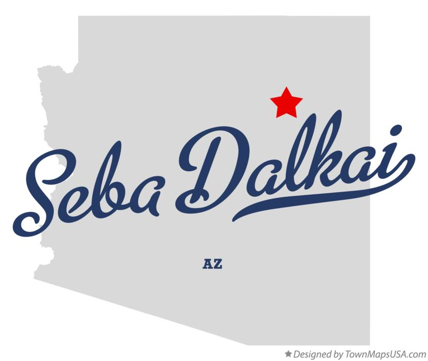 Map of Seba Dalkai Arizona AZ