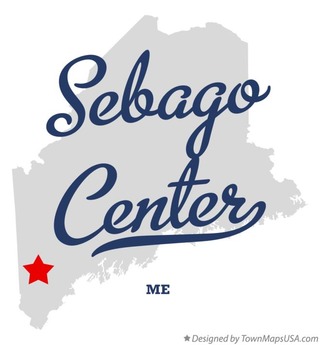 Map of Sebago Center Maine ME