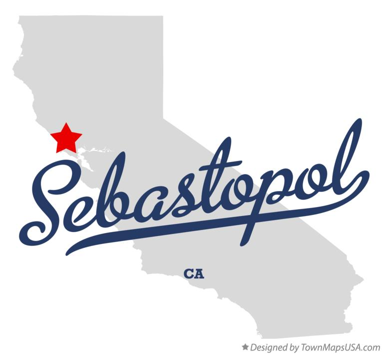 Map of Sebastopol California CA