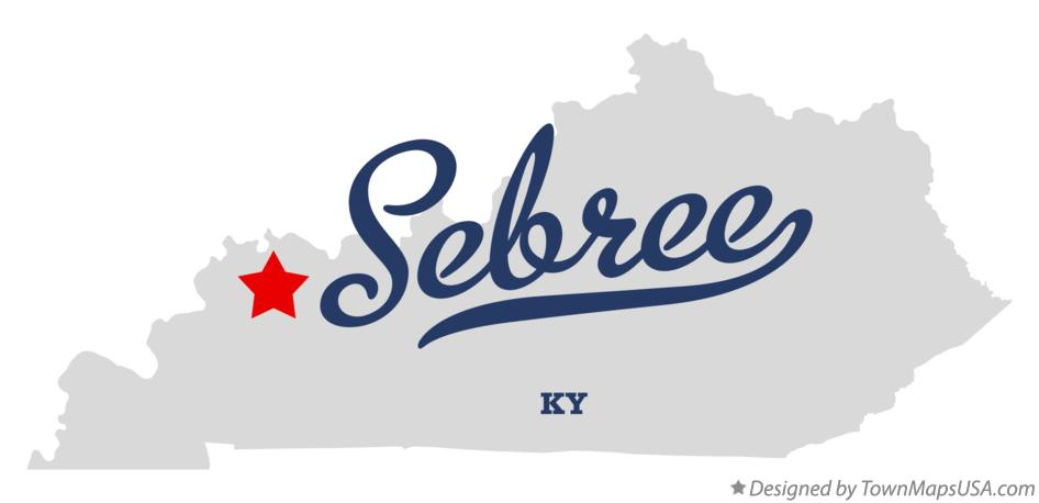 Map of Sebree Kentucky KY