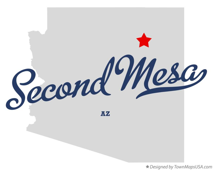 Map of Second Mesa Arizona AZ