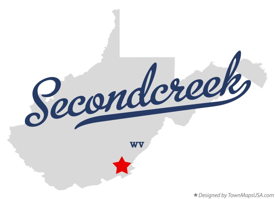 Map of Secondcreek West Virginia WV