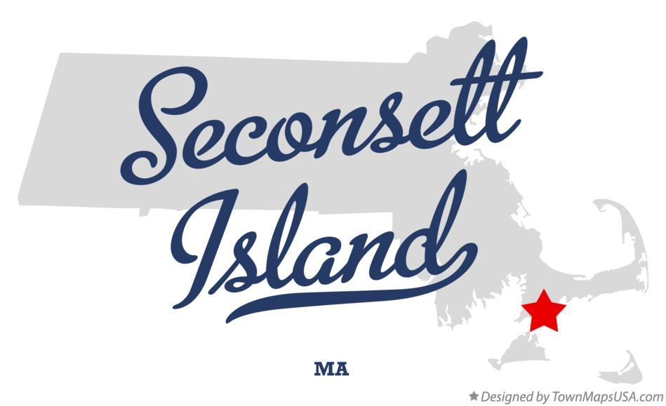 Map of Seconsett Island Massachusetts MA